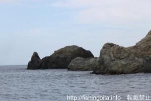 米水津沖の観音周辺